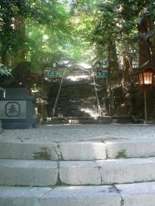 高千穂神社本殿途中階段